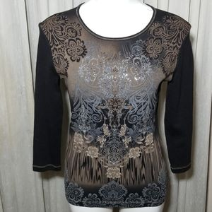 Blue Canyon Silver & Bronze Studded Tee